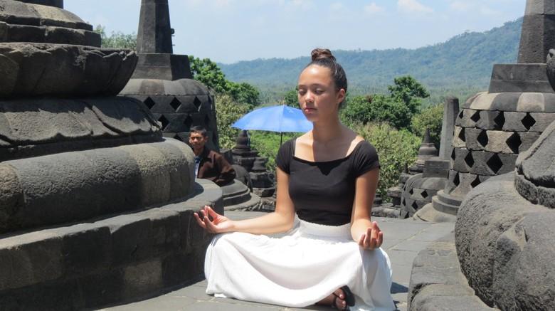 Wisatawan di Candi Borobudur (Fitraya/detikTravel)