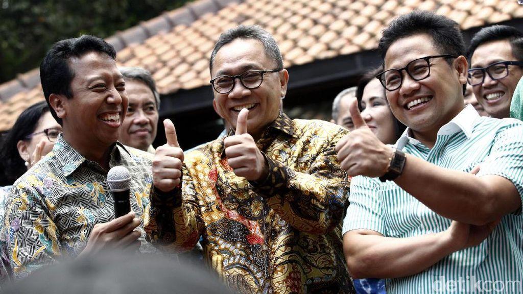 Senyum Sumringah Ketum Parpol di Rumah SBY