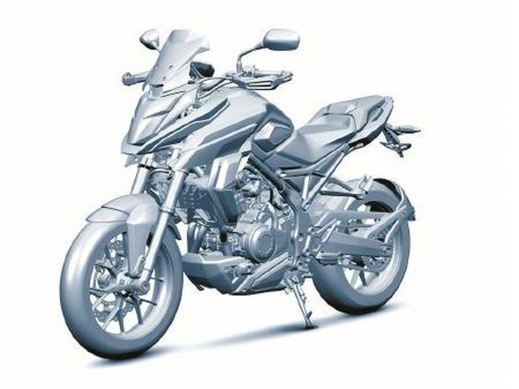 Honda Ajukan Paten Gambar Motor Adventure Terbaru