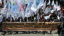 Ribuan Buruh Turun ke Jalan