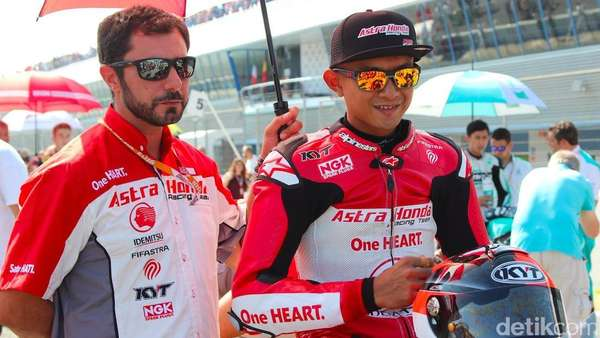 Jelang Balapan di CEV Moto2, Dimas Ekky Fokus Genjot Fisik