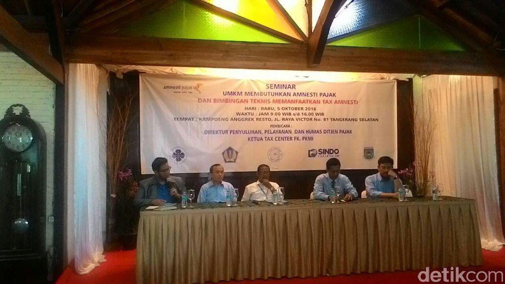 Ditjen Pajak Sosialisasi Tax Amnesty ke 100 UMKM di Tangerang