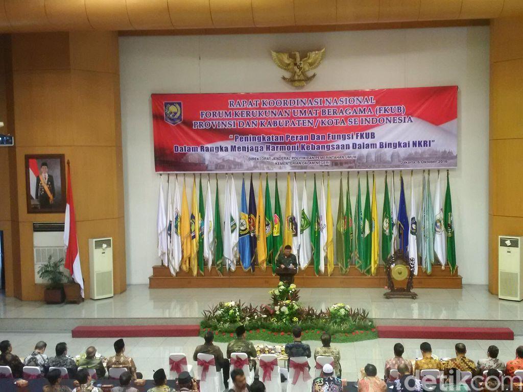 Mendagri dan Menag Buka Rapat Forum Kerukunan Umat Beragama