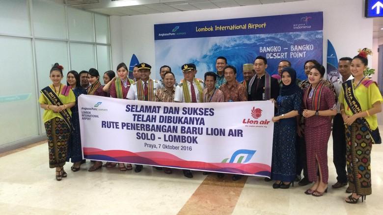 Pembukaan rute Lion Air Lombok-Solo (Ahmad Masaul Khoiri/detikTravel)