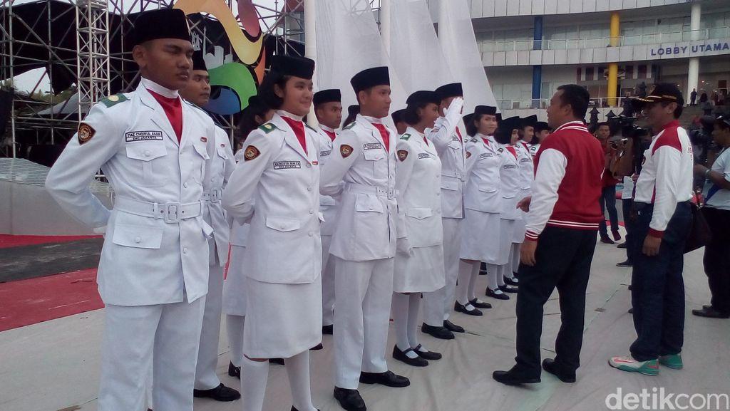 Kibarkan Bendera Merah Putih di Ancol, Menpora: Indonesia Siap Lahir Batin Sambut TAFISA