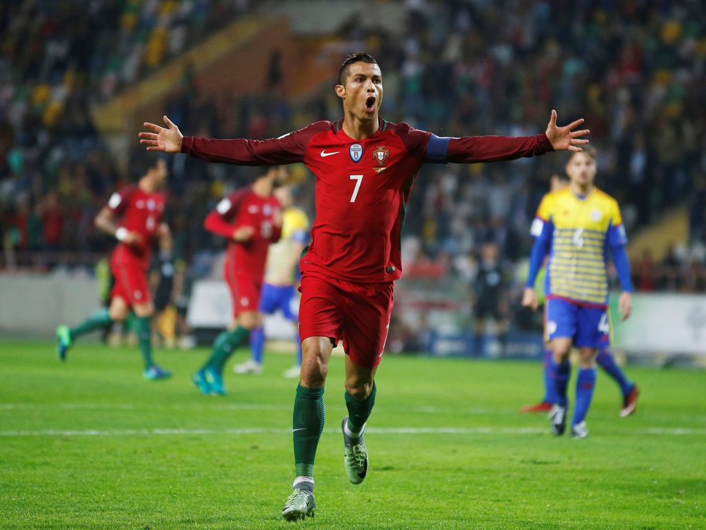 Ronaldo Quat-trick, Portugal Pesta Enam Gol ke Gawang Andorra