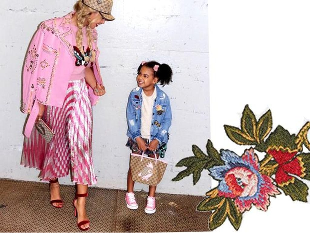 Foto: Momen Menggemaskan Beyonce dan Blue Ivy Kompak Berbusana