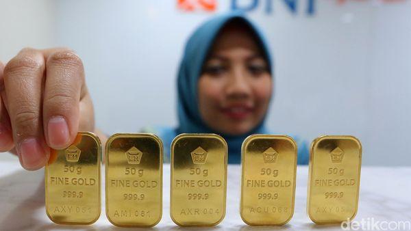 Dolar Menguat Harga Emas Antam Ikut Naik Rp 1000gram