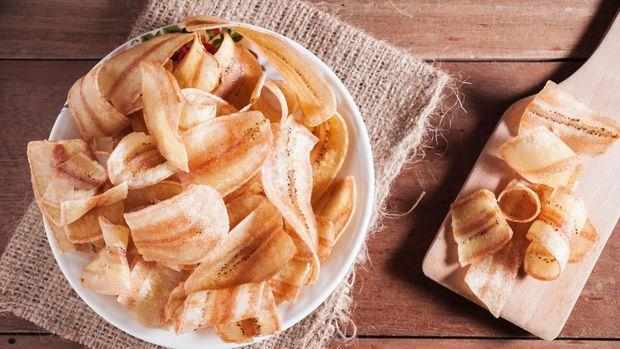 ilustrasi keripik: Di Lampung, keripik pisang tak terasa asin melainkan manis