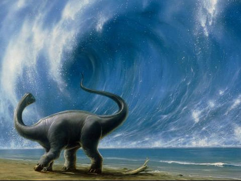 Detik-detik Menyeramkan Dinosaurus Punah Dihantam Asteroid (II)