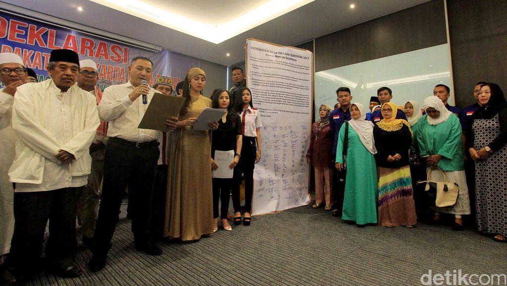 Deklarasi Pilkada Damai di Pilgub DKI Jakarta