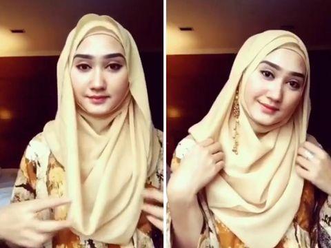 %name Hanya 1 Menit, Tutorial Hijab Segi Empat Paling Cepat + Video