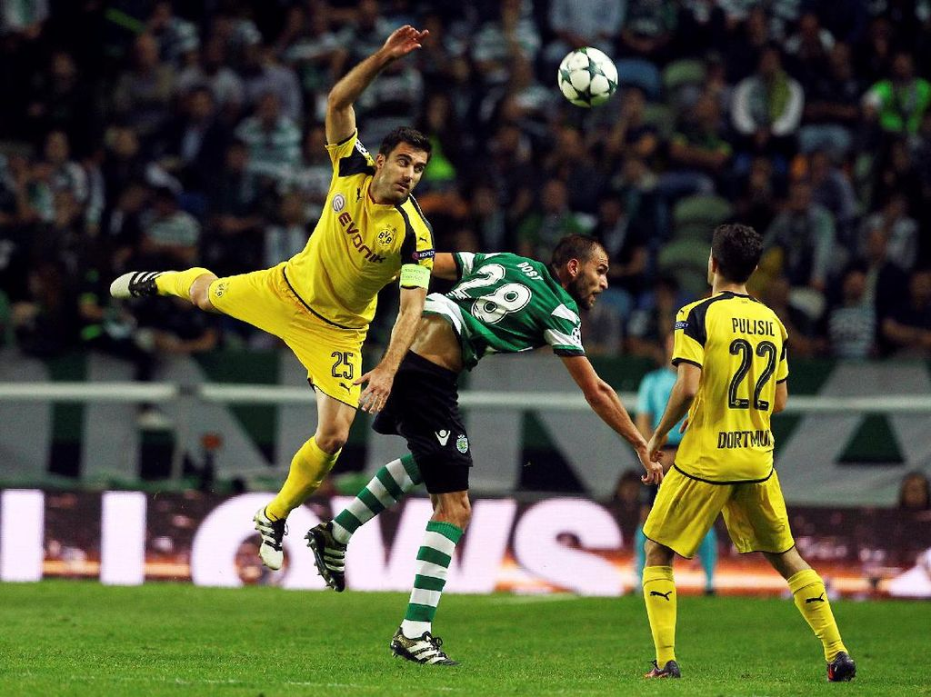 Dortmund Menang 2-1 di Markas Sporting