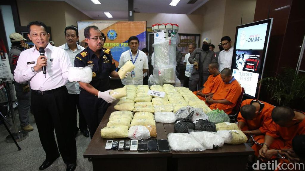 BNN Ungkap Penyelundupan Sabu 69,2 Kg