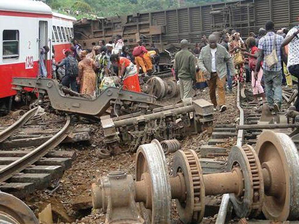 Kereta Penuh Sesak Tergelincir di Kamerun, 55 Orang Tewas dan Ratusan Luka