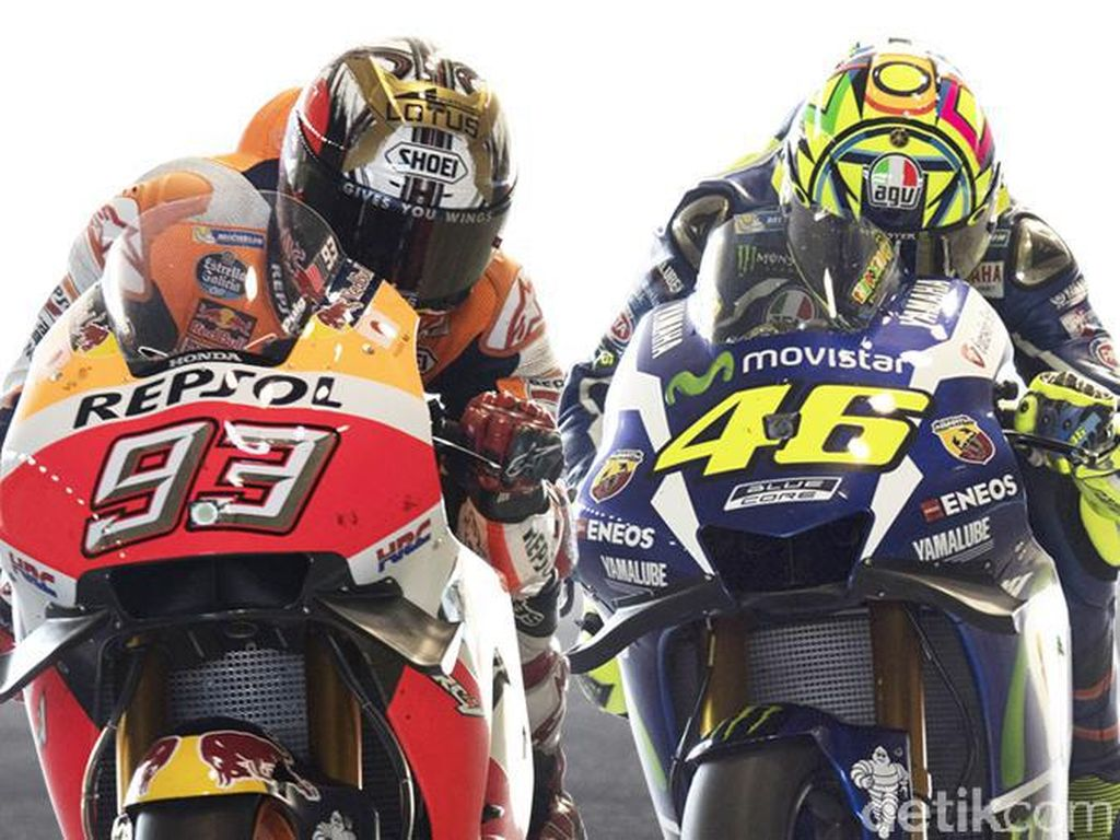 Clash of The Titans: Rivalitas Panas Valentino Rossi-Marc Marquez