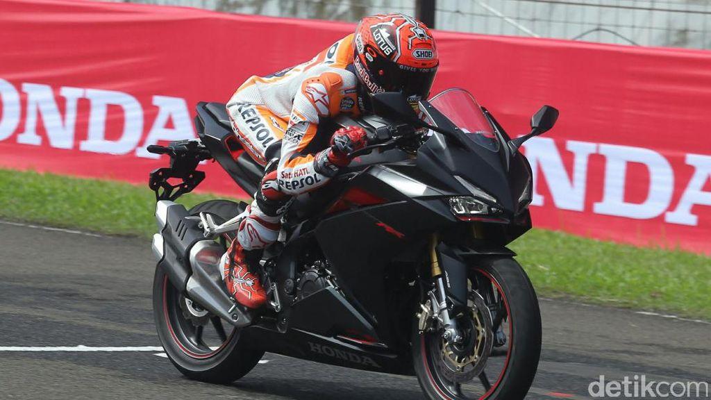 Marquez Geber Honda CBR250RR di Sentul