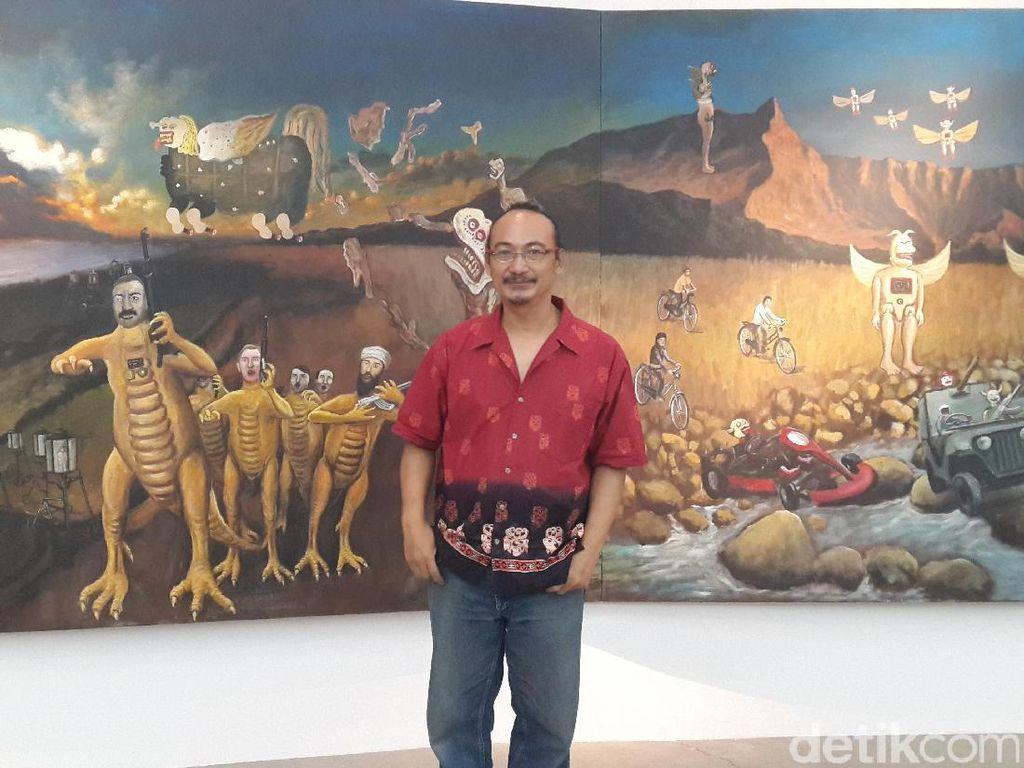 Heri Dono Bakal Pajang 5 Karya Ikonik di Art Moments Jakarta