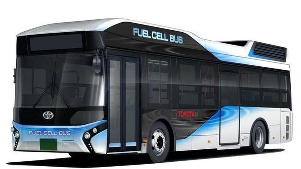 Toyota Kenalkan Bus Bertenaga Hidrogennya