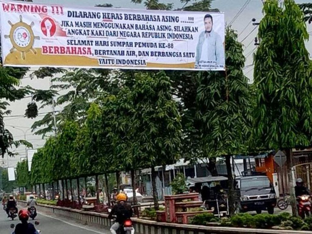 Polisi soal Spanduk Sumpah Pemuda yang Dibahas Netizen: Ada 2 di Tanjungbalai