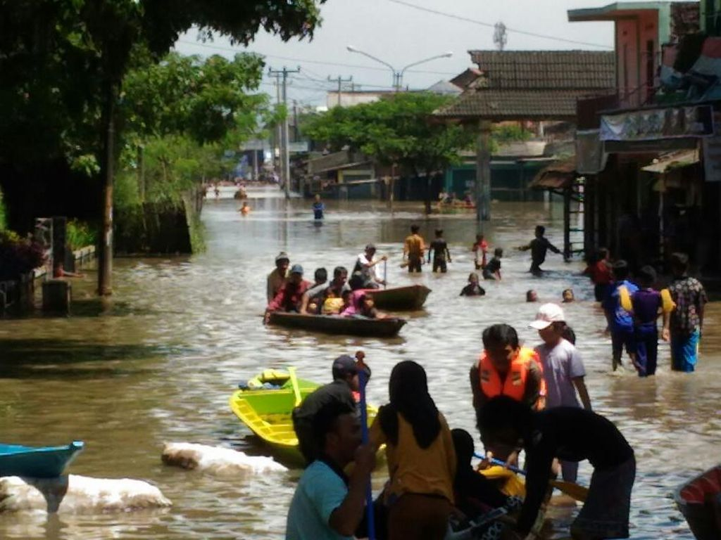 Dusun Simargalih Karawang Banjir, Bukan karena Luapan Waduk Saguling