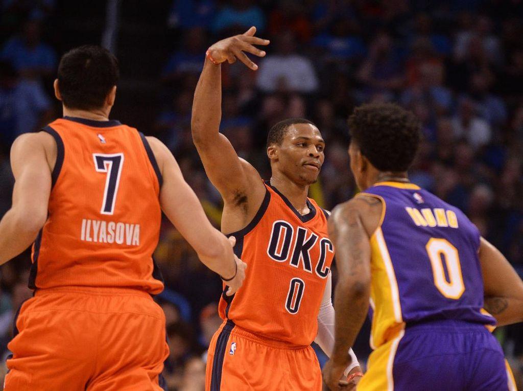 Westbrook Triple-Double Lagi, Thunder Lanjutkan Start 100%