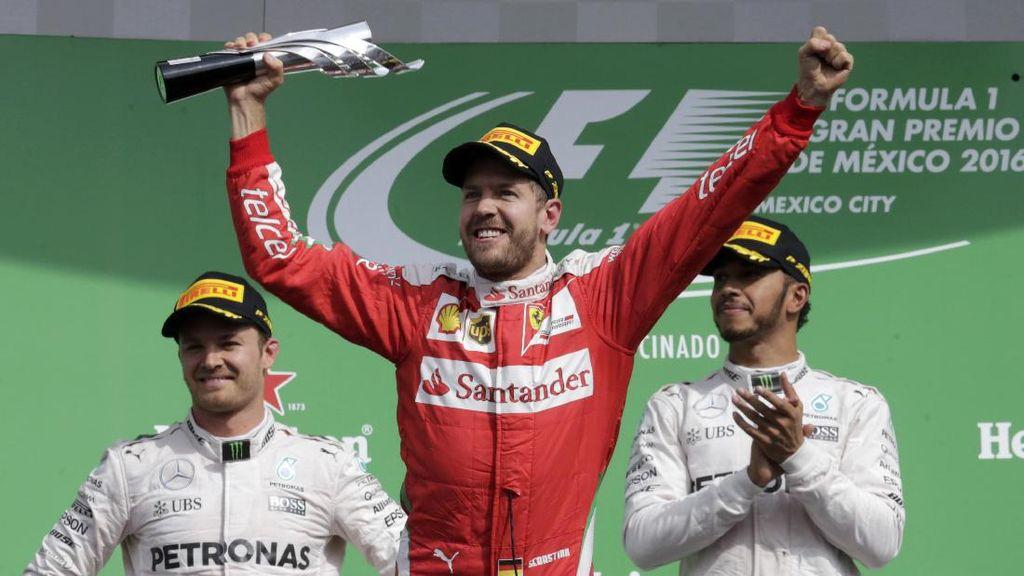 Kena Penalti 10 Detik, Vettel Tak Jadi Dapat Podium