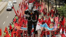 Demo Buruh Susuri Thamrin