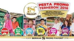 Pesta Promo Terheboh Peringati 18 Tahun Transmart Carrefour