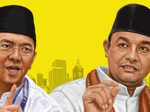 Saling Balas Ahok dan Anies Soal Open Governance