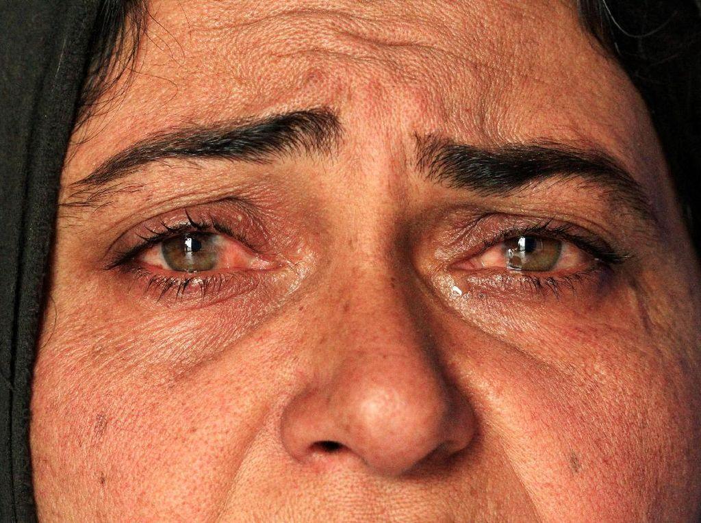 Potret Kesedihan Pengungsi di Mosul