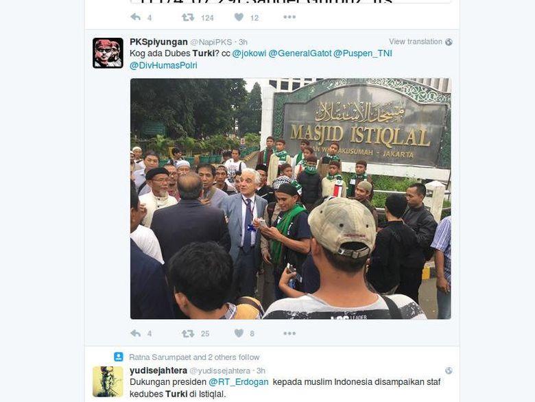 Viral di Medsos, Kedubes Turki Bantah Dukung Demo 4 November