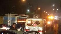 Kecelakaan Beruntun 7 Mobil di Tol JORR Arah Kampung Rambutan