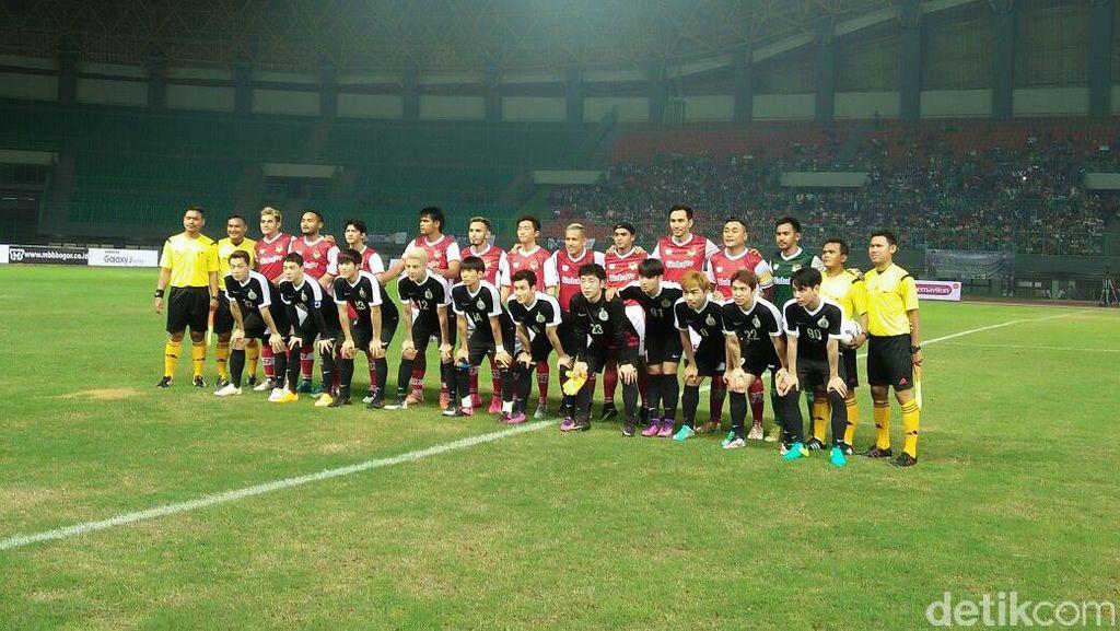 Seru! Artis Korea Selatan Bekuk Selebriti Indonesia 5-3 di Laga Persahabatan