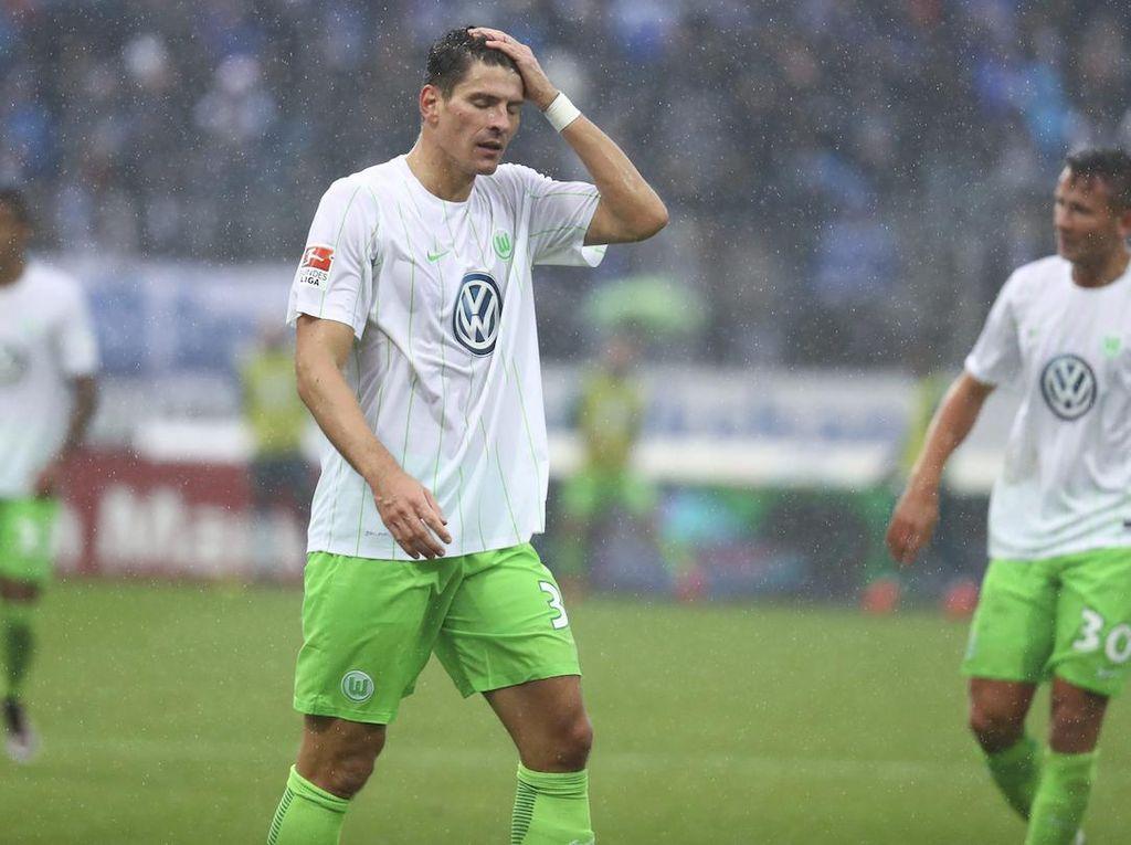 Momentum Mario Gomez di Wolfsburg