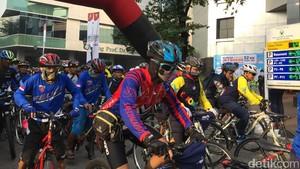 Gowes 52 Km Jakarta-Bogor, 700-an Pesepeda Kampanyekan Hidup Sehat