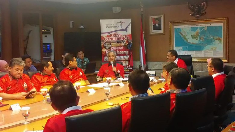 Suasana press conference Borobudur Marathon 2016 (Randy/detikTravel)