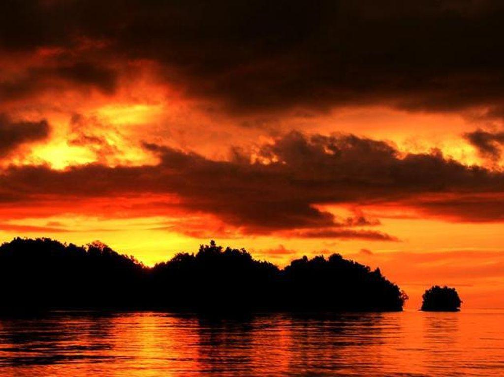 Sunset yang Luar Biasa Indah di Togean