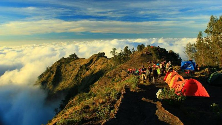 Gunung Rinjani, yang gres masuk daftar UNESCO Global Geopark (Andy Ardy/dTraveler)