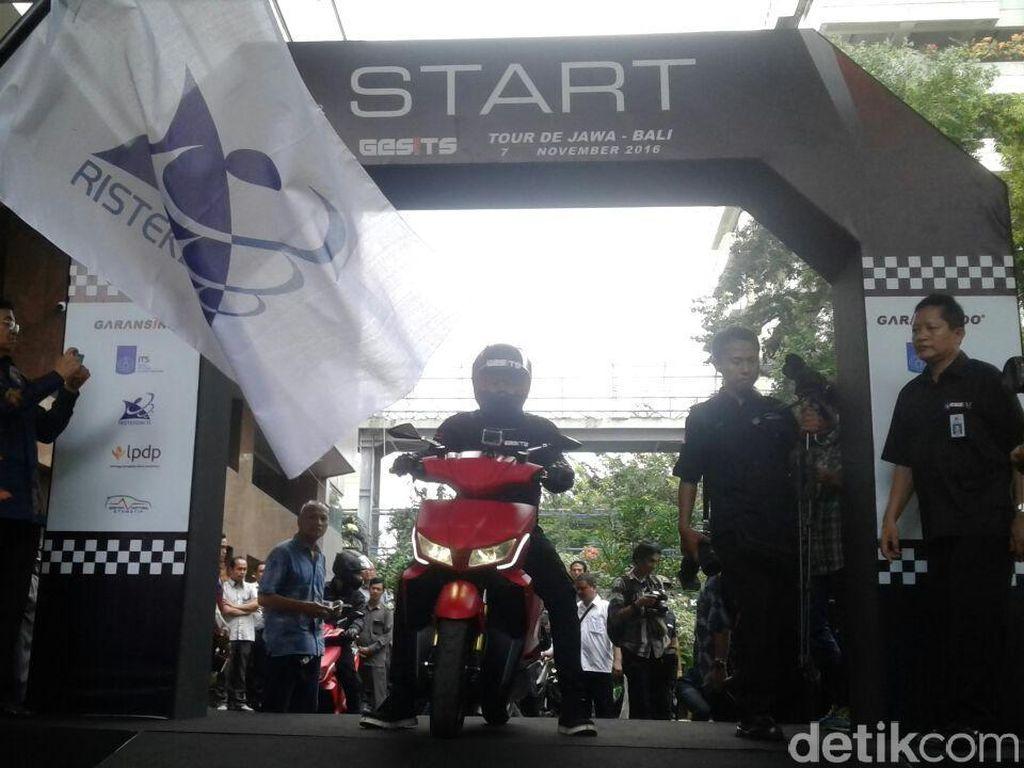 Pengujian Motor Listrik Gesits dari Jakarta Hingga Bali Dimulai