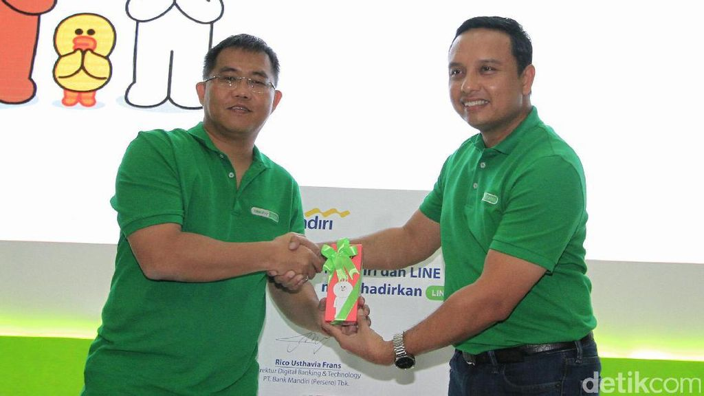 Bank Mandiri Luncurkan Line Pay E-Cash
