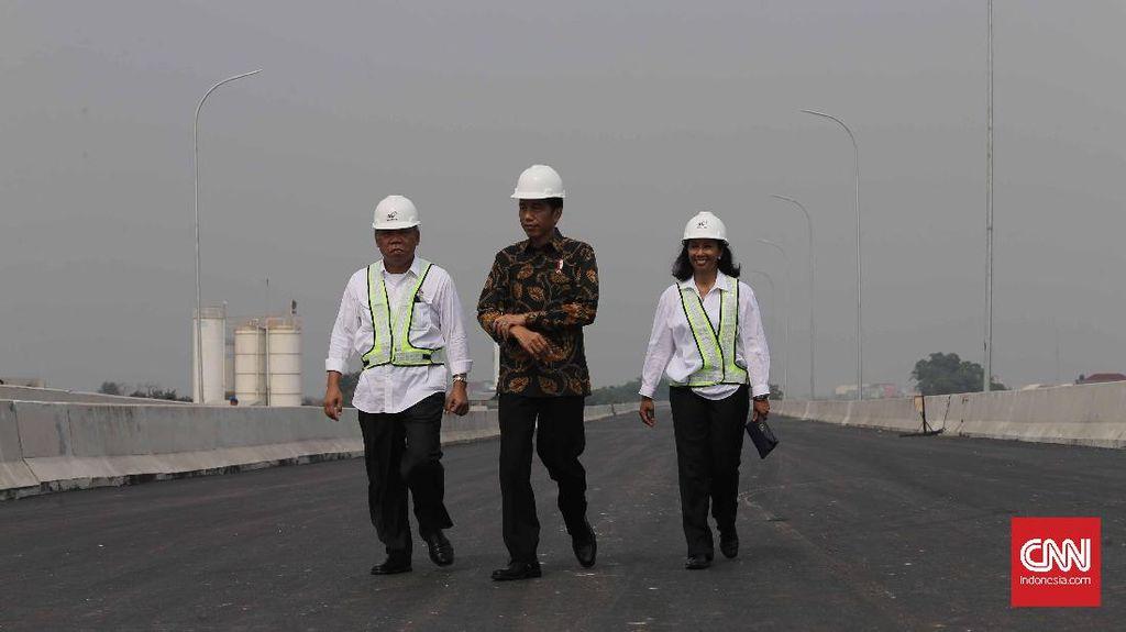 Jokowi Tinjau Proyek Tol Becakayu