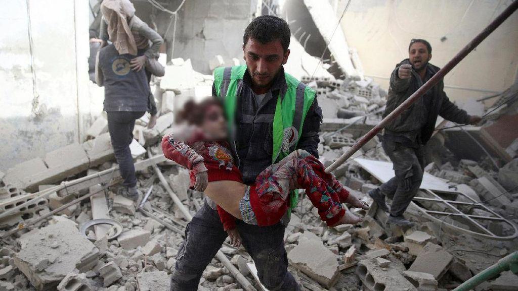Anak-anak Kembali Menjadi Korban Serangan Udara di Suriah