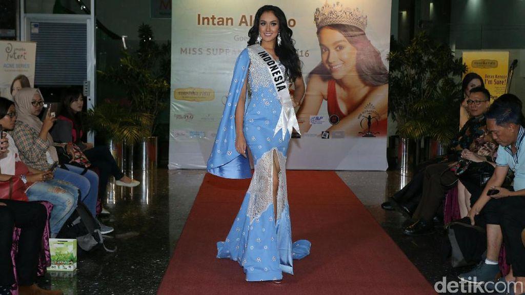Puteri Indonesia Intan Aletrino Masuk Top 10 Kontes Kecantikan di Polandia