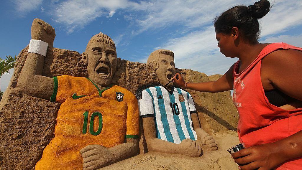 Jelang Duel Brasil vs Argentina, Messi Nebeng Jet Pribadi Neymar