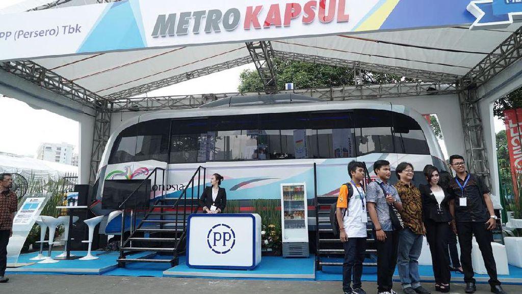Mirip Skytrain di Singapura, Begini Penampakan Metro Kapsul Garapan PTPP