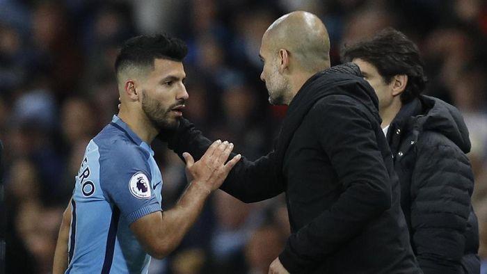 Sergio Aguero dan Pep Guardiola (Reuters / Darren Staples)