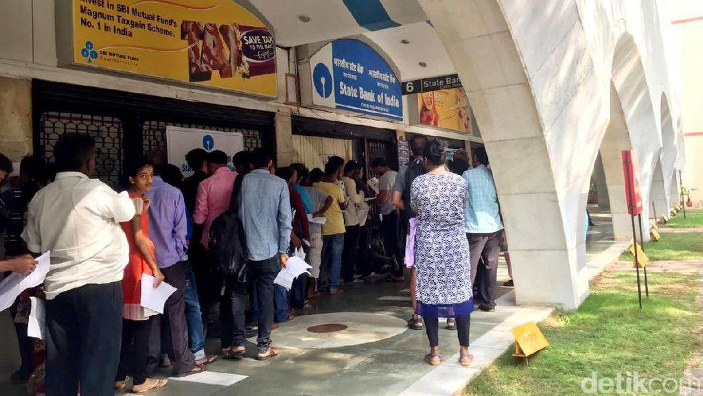 Pemerintah India Tarik Uang Tunai Rp 590 Triliun dari Peredaran, Situasi Kacau