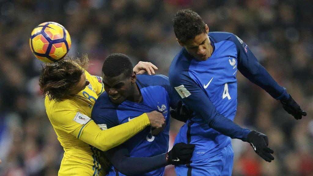 Prancis Menang Tipis Atas Swedia