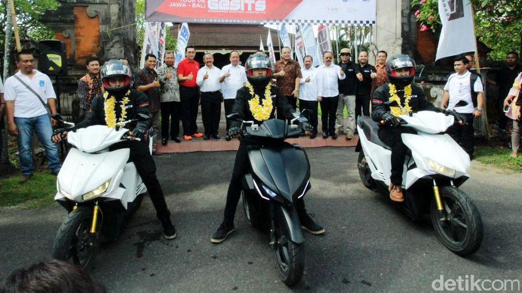 Motor Listrik Gesits Tiba di Bali